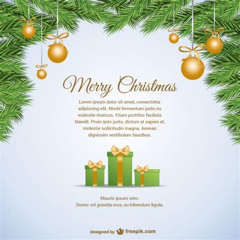 Kostenlose Vorlage Weihnachtskarte Weihnachtskarte Vorlage Mit Text Der Kostenlosen Vektor