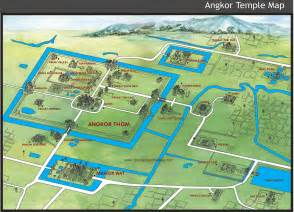 where is temple on the map angkor temple map siem riep mappery