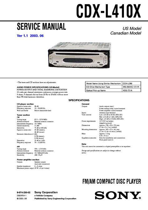 sony cdx l410x wiring diagram 29 wiring diagram images