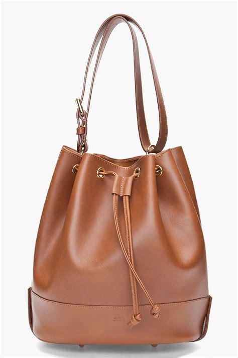 P Da Bag lyst a p c caramel bag in brown