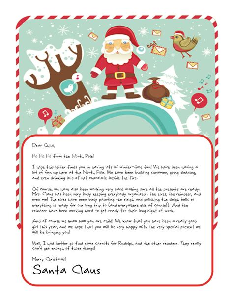 free printable letter from santa claus uk easy free letters from santa customize your text and