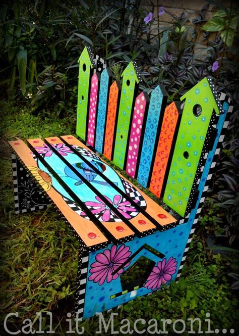 bench painting ideas bird houses benches and garden benches on pinterest
