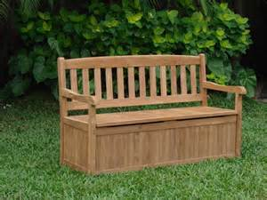 Garden Bench With Storage 5 Outdoor Patio Teak Garden Bench W Storage Box Furniture Collection Ebay