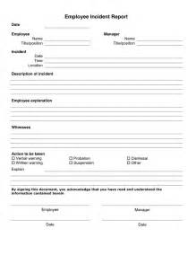Workplace Incident Report Template 10 Incident Report Templates Word Excel Pdf Formats