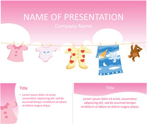 powerpoint templates baby baby clothes powerpoint template templateswise