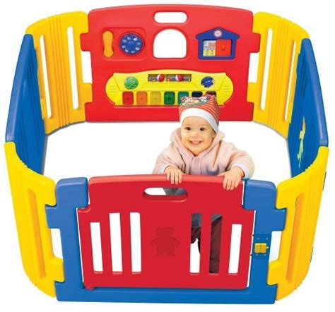 colorful baby gate friendly toys playzone indoor and outdoor playpen