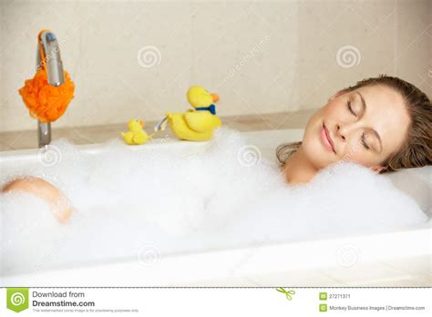 Relaxing Bathtub by Relaxing In Filled Bath Stock Image Image