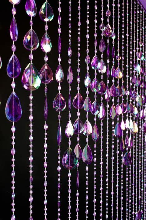 Beaded Curtains Big Teardrops Purple Door