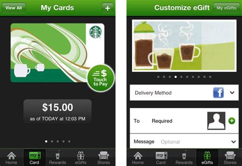 Starbucks Card 2 Unit starbucks merges their two ios apps lets you gift your