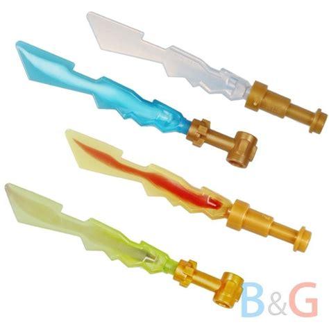 Figure Weapon Set Sword 2 lego ninjago set of 4 elemental blades minifigure