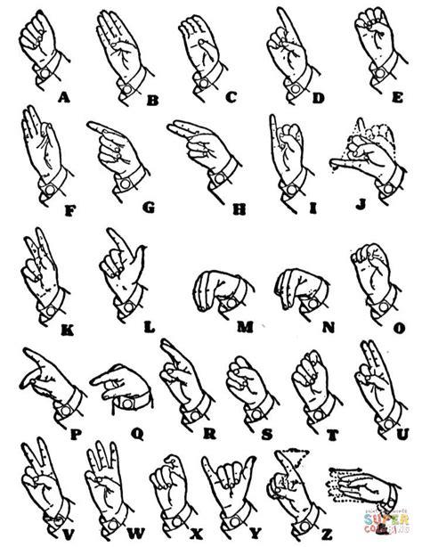 ausmalbild einhaendiges handzeichen alphabet