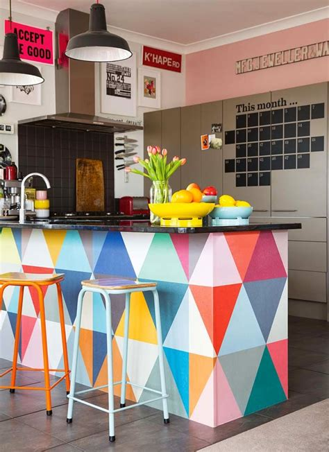 Triangle Design Kitchens 25 Colorful Kitchens To Inspire You