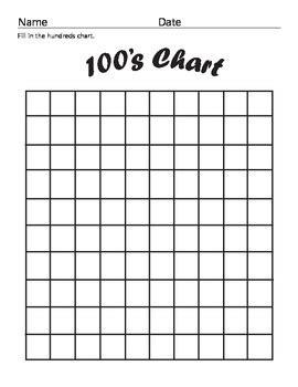 printable empty hundreds chart hundreds chart blank chart blank hundreds chart puzzles
