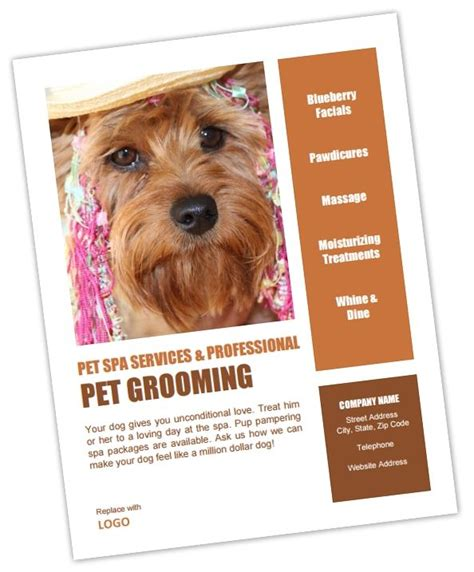 grooming flyers template the 97 best images about groomers advertising templates