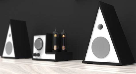 speaker designer figaro triangular speaker concept comes with airplay support