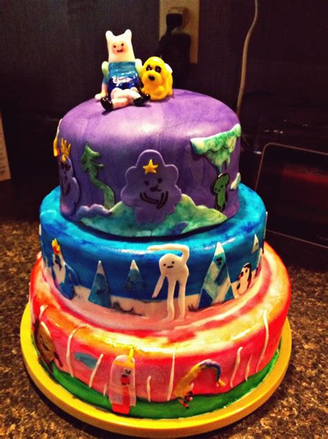 birthday cake adventure time cakes decoration ideas little birthday