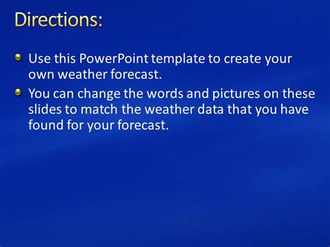 create your own template powerpoint directions use this powerpoint template to create your