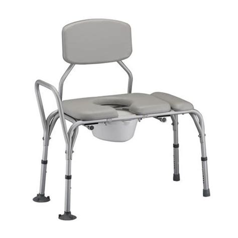 transfer bench with commode nova padded transfer bench with commode bellevue healthcare
