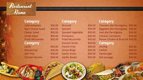 mexican restaurant menu template blank mexican menu template www pixshark images