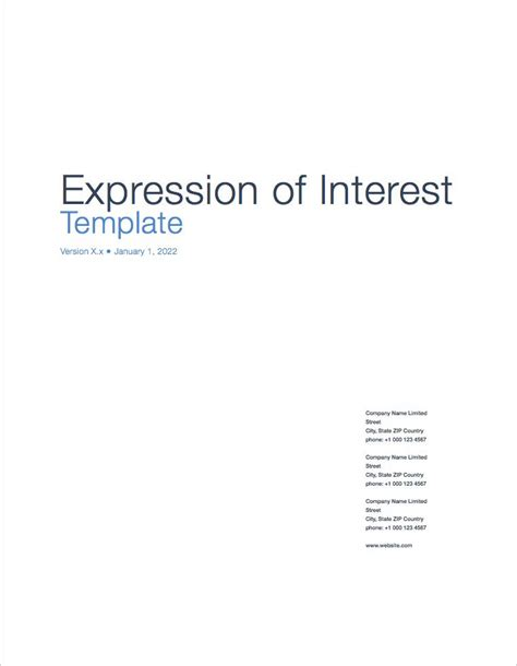 expression of interest form template plan templates 11 x ms word ms excel