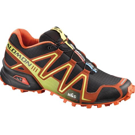 salomon speedcross 3 mens trail running shoes salomon speedcross 3 trail running shoes black orange