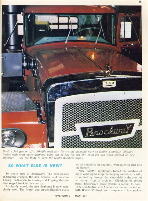 most rugged truck photo may 1971 brockway the most rugged truck in the world 20 05 overdrive magazine may 1971