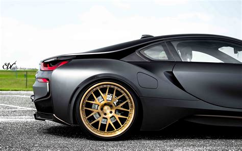 matte bmw i8 matte black bmw i8 gets edc wheels my car portal