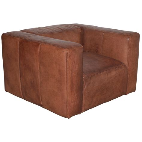 cube armchair french cube leather armchair no 44 furniture cobham nr london