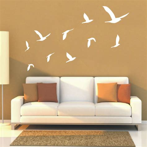 Living Room Home Decor Stickers 2016 Ten Geese Flying Decals Living Room Wall