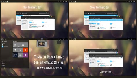 themes black windows 10 yosemite black full version theme windows 10 rtm by