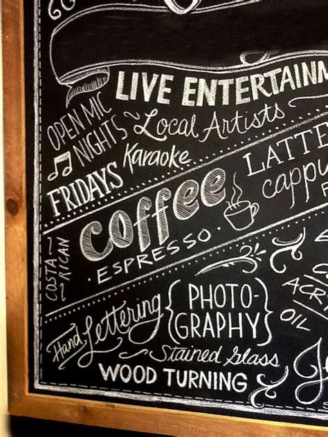 coffee shop wall art coffee shop chalkboard art leave the shop s name all things reno