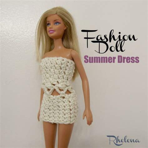 fashion doll dress patterns fashion doll summer dress crochetn crafts