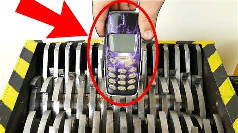 shredding nokia phones the shredder show experiment