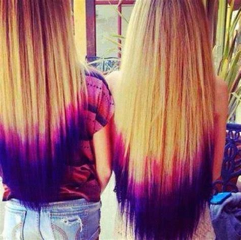 7 Tips For Dying Your Hair Brown by Purple Blue Dip Dye Hair It S On My List To Get