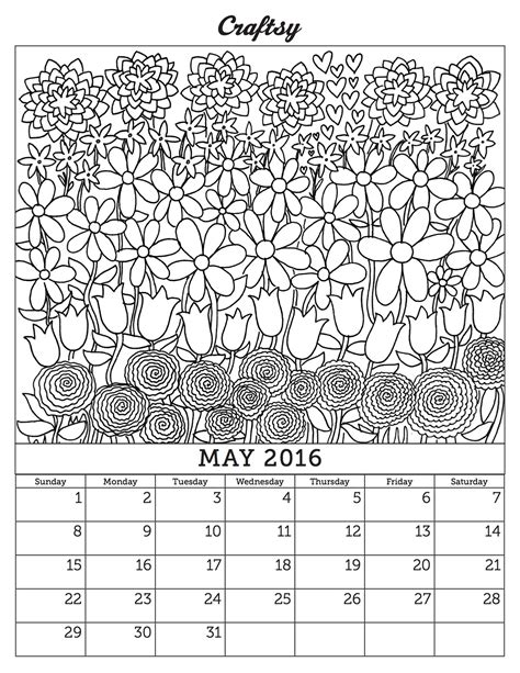 printable calendar 2016 to color image gallery january coloring calendar pages