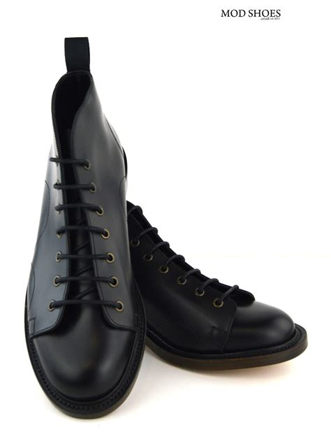 leather sole boots black monkey boots leather sole mod shoes