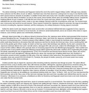 Hiroshima Essays by Atomic Bomb Essay By David