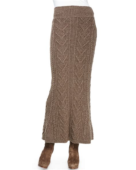 cable knit skirt ralph collection cable knit skirt in