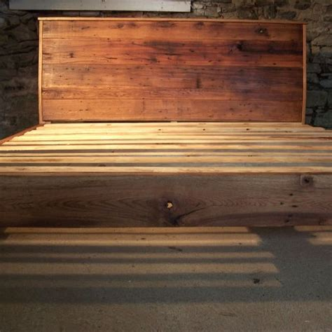 slanted headboard buy a hand crafted modern style bed frame with slanted