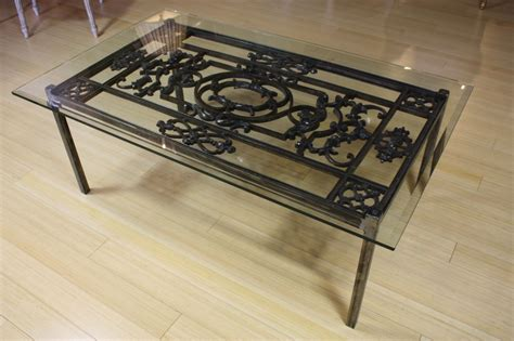 wrought iron table decor coffee tables decor wrought iron and glass coffee table