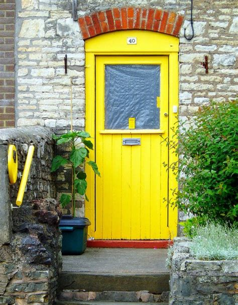 bright yellow door make a dramatic first impression 15 painted front doors