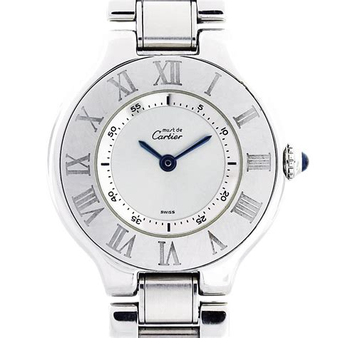 cartier 21 must de cartier stainless steel