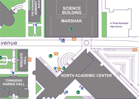 city college map city college of new york map images