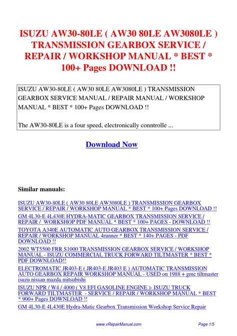 best car repair manuals 1988 mitsubishi cordia parking system isuzu aw30 80le aw30 80le aw3080le transmission gearbox service repair workshop manual 100 pdf