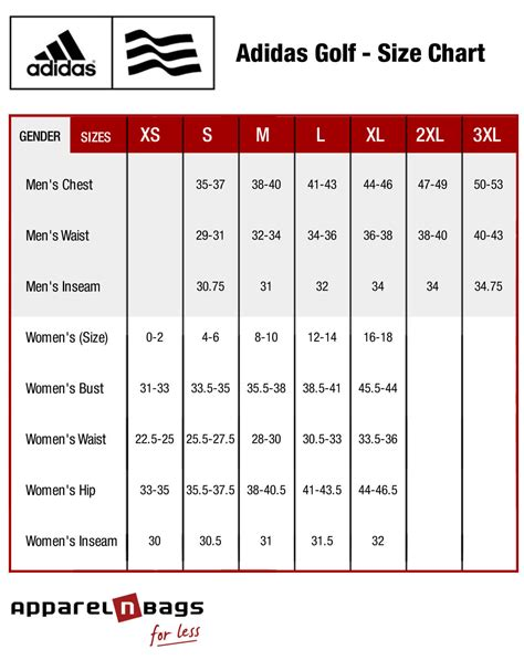 adidas golf clothing size chart adidas golf fit guide