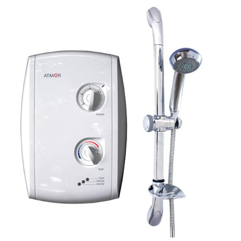 Heated Shower by Bluewave 401 Shower Heater 3 5kw Chrome Accessories