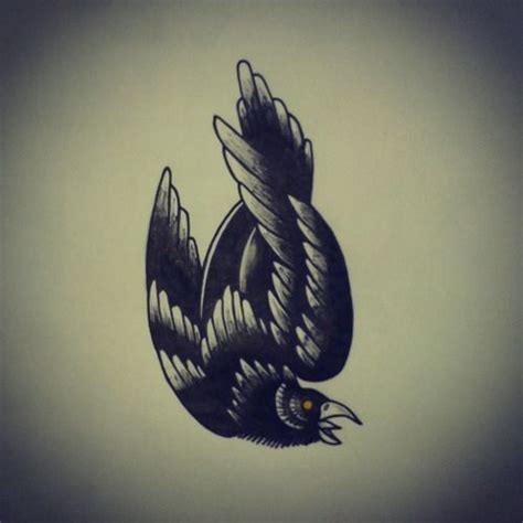 traditional crow tattoo 1000 ideas about tattoos on