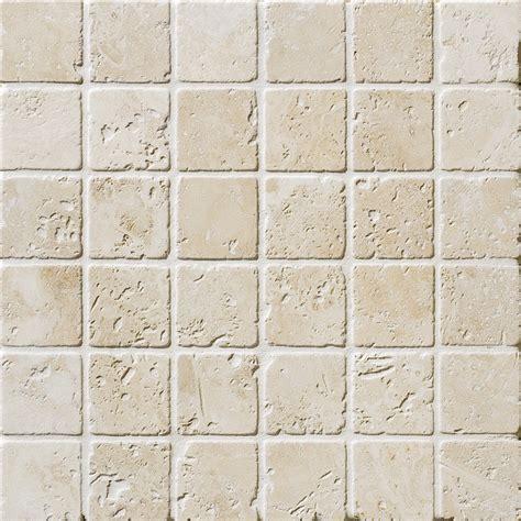 ivory tumbled 2x2 travertine mosaics 12x12 marble system inc