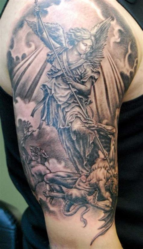 st michael sleeve tattoo designs tattoos designs ideas and meaning tattoos for you