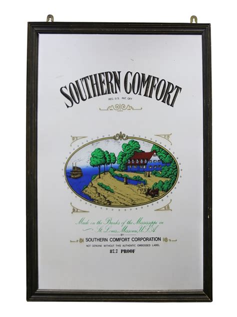 southern comfort memorabilia southern comfort mirror lot 7659 whisky auction